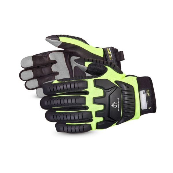 Superior Glove Clutch Gear® Impact Resistant Mechanics Gloves With PVC Palm Patches