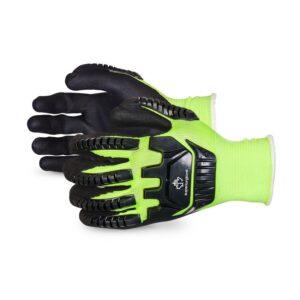 Superior Glove Dexterity® Hi-Viz Anti-Impact Glove made with Micropore Nitrile Grip