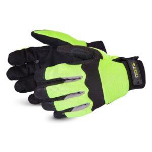 Superior Glove Clutch Gear Hi-Viz Mechanics Glove Fully Lined with Punkban™