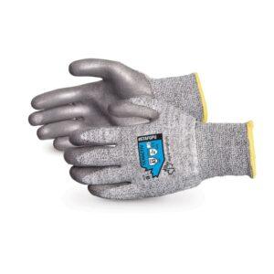 Superior Glove TenActiv™ Composite Filament Fiber Cut-Resistant Knit with Grey PU Palms